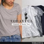 TODAYFUL トゥデイフル Useful U Neck Tee 11690602 【16AW1】【SALE】【30%OFF】<img class='new_mark_img2' src='https://img.shop-pro.jp/img/new/icons20.gif' style='border:none;display:inline;margin:0px;padding:0px;width:auto;' />