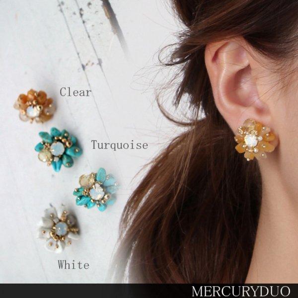MERCURY マーキュリー 天然石Flowerイヤリング 001720900101 【17SS1】【SALE】【60%OFF】