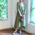 【SOLDOUT】TODAYFUL トゥデイフル Cache-coeur Chiffon Dress 11720324 【17AW2】【20☆】