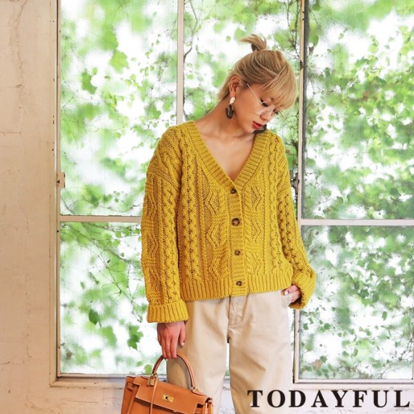 TODAYFUL トゥデイフル 2way Knit Cardigan 11720504 【17AW2】【SALE】【20%OFF】