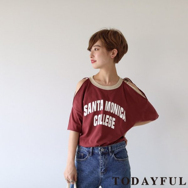 TODAYFUL トゥデイフル Openshoulder Remake Tee 11810611 【18SS1】 【SALE】【40%OFF】