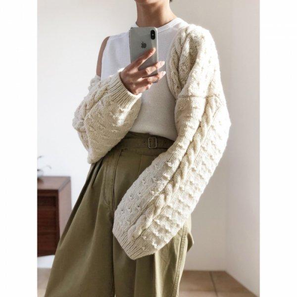 TODAYFUL トゥデイフル Hand Knit Bolero 11820520 【18AW1】【先行予約】【クレジット限定 納期9月〜10月頃予定】