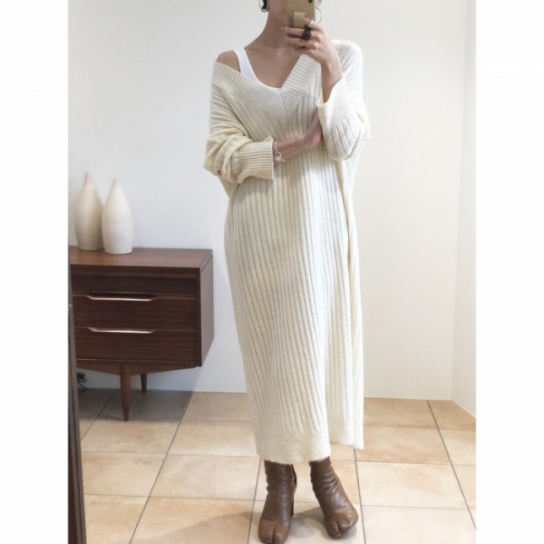 TODAYFUL トゥデイフル Soft Ribknit Dress 11820324 【18AW2】【先行予約】【クレジット限定 納期12月〜1月頃予定】