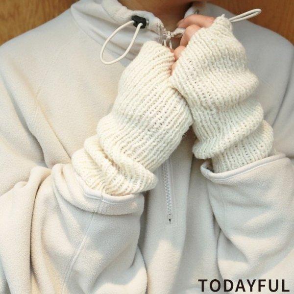 TODAYFUL トゥデイフル Knit Arm Warmer 11821007 【18AW2】【先行予約】【クレジット限定 納期10月〜11月頃予定】