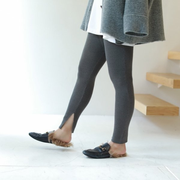 TODAYFUL トゥデイフル Thermal Knit Leggings 11821052 【18AW2】【先行予約】【クレジット限定 納期10月〜11月頃予定】