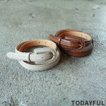 TODAYFUL トゥデイフル Stitch Leather Belt 11821078 【18AW2】【先行予約】【クレジット限定 納期11月〜12月頃予定】 <img class='new_mark_img2' src='https://img.shop-pro.jp/img/new/icons15.gif' style='border:none;display:inline;margin:0px;padding:0px;width:auto;' />