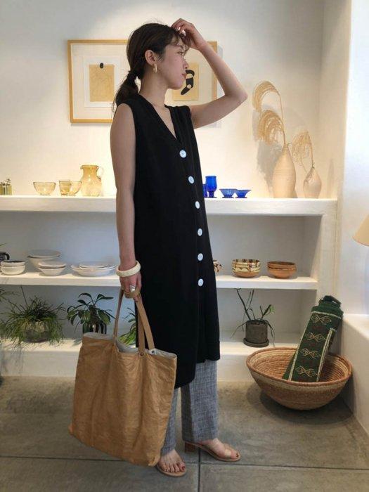 TODAYFUL トゥデイフル Knit Long Vest 11910528 【19SS1】【先行予約】【クレジット限定 納期3月〜4月頃予定】