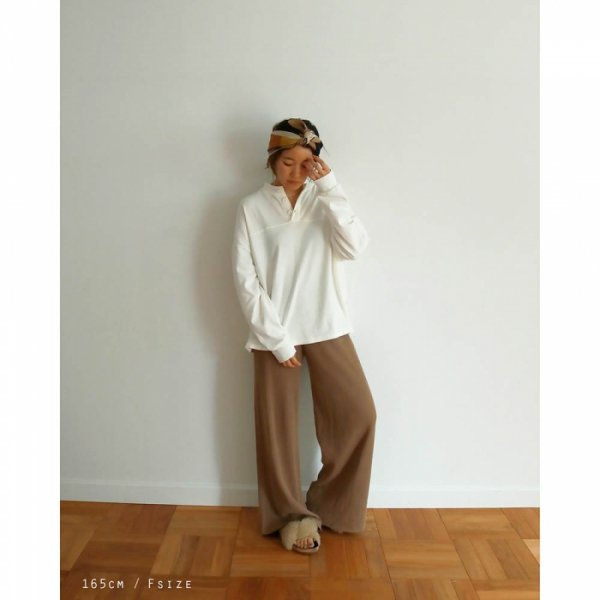 TODAYFUL トゥデイフル Henleyneck Cotton Pullover 11910607 【19SS1】【SALE】【30%OFF】