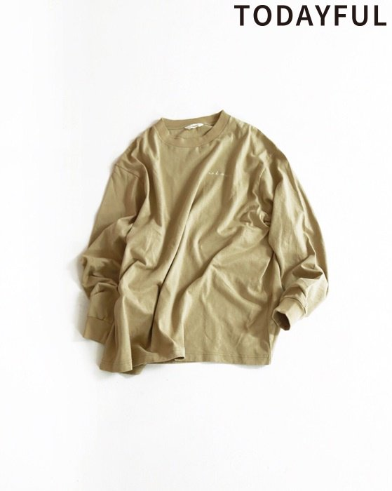 TODAYFUL トゥデイフル Lettering Long T-Shirts 11910617 【19SS1】【先行予約】【クレジット限定 納期2月〜3月頃予定】