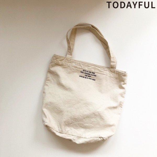 TODAYFUL トゥデイフル Logo Print Totebag 11911016 【19SS1】【先行予約】【クレジット限定 納期1月〜2月頃予定】