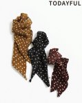 TODAYFUL トゥデイフル Dot Chiffon Scarf 11911042 【19SS1】【先行予約】【クレジット限定 納期1月〜2月頃予定】 <img class='new_mark_img2' src='https://img.shop-pro.jp/img/new/icons15.gif' style='border:none;display:inline;margin:0px;padding:0px;width:auto;' />