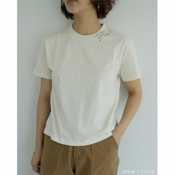 TODAYFUL トゥデイフル Embroidery T-shirts 11910646 【19SS2】【新作】