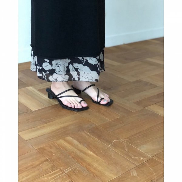 TODAYFUL トゥデイフル Squaretoe Strap Sandals 11911064 【19SS2】【新作】