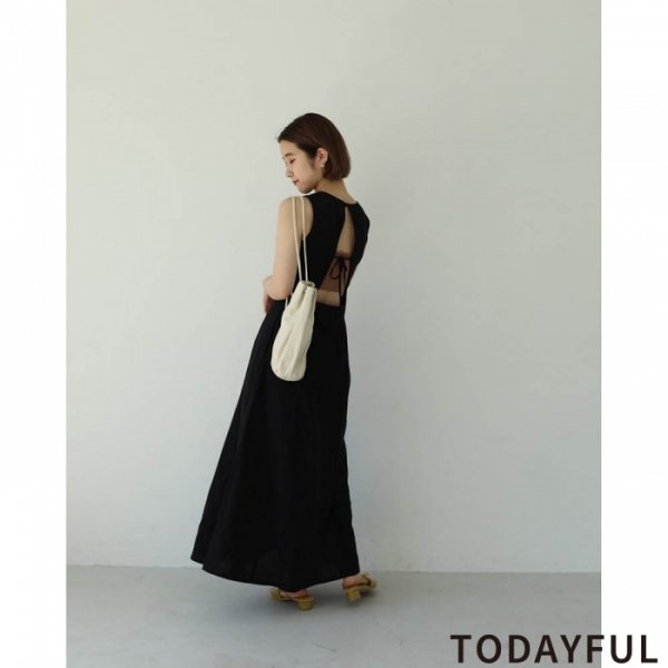 TODAYFUL トゥデイフル Backopen Tie Dress 11920312 【19AW1】【新作】