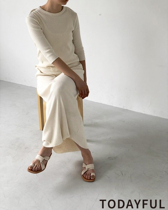 TODAYFUL トゥデイフル BackLayered Rib Dress 11920318 【19AW1】 【SALE】【30%OFF】