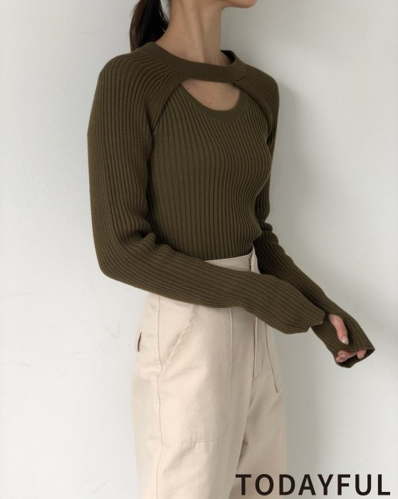 TODAYFUL トゥデイフル Ensemble Rib Knit 11920509 【19AW1】【SALE】【30%OFF】