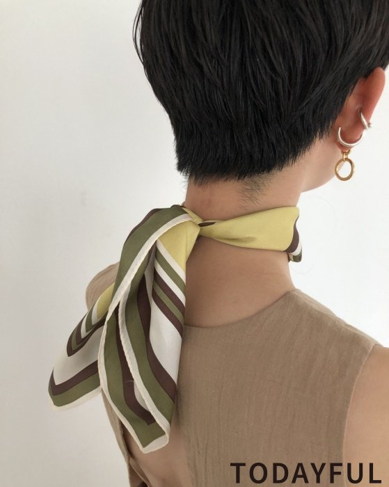 TODAYFUL トゥデイフル Silk Square Scarf 11921016 【19AW1】 【SALE】【30%OFF】