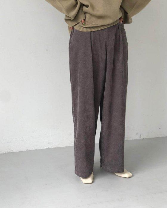 TODAYFUL トゥデイフル Corduroy Tuck Pants 11920719 【19AW2】【先行予約】【クレジット限定 納期11月〜12月頃予定】