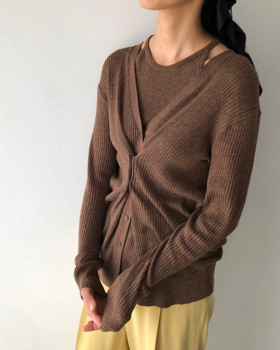 TODAYFUL トゥデイフル Layered Knit Cardigan 12010501 【20SS1】【新作】
