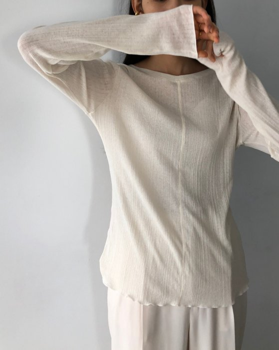 TODAYFUL トゥデイフル Randomrib Long T-Shirts 12010620 【20SS1】【SALE】【20%OFF】
