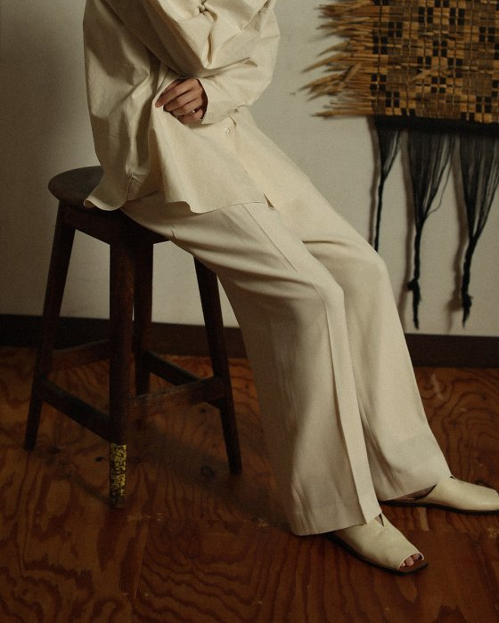 TODAYFUL トゥデイフル Georgette Rough Trousers 12010708 【20SS1】【先行予約】【クレジット限定 納期20年1月〜2月頃予定】