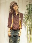 UNGRID アングリッド ラビットファーサスペンダー 111331014901 【13AW】【SALE】【70%OFF】<img class='new_mark_img2' src='https://img.shop-pro.jp/img/new/icons20.gif' style='border:none;display:inline;margin:0px;padding:0px;width:auto;' />
