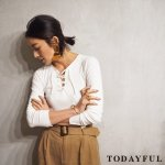 【SOLDOUT】TODAYFUL トゥデイフル Laceup Rib Tops 11710616 【17SS1】【30☆】