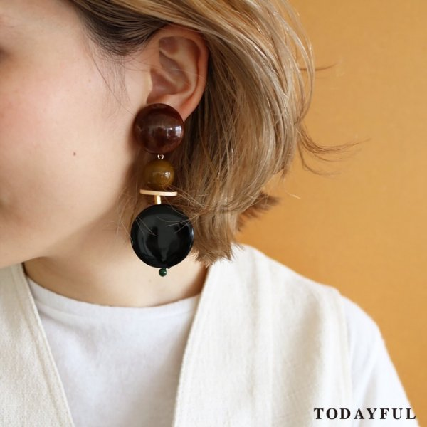TODAYFUL トゥデイフル Marble Parts Earring 11720923 【17AW1】【新作】