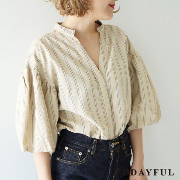 TODAYFUL トゥデイフル Yarn-dye Stripe Shirts 11720407 【17AW1】【新作】
