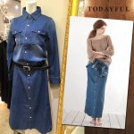 TODAYFUL �ȥ��ǥ��ե� Denim Shirts OP 11610312 ��16SS1�ۡڿ����<img class='new_mark_img2' src='http://allure-selectshop.com/img/new/icons11.gif' style='border:none;display:inline;margin:0px;padding:0px;width:auto;' />