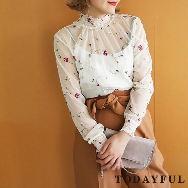 TODAYFUL トゥデイフル Flower Sheer Blouse 11720417 【17AW1】【SALE】【60%OFF】