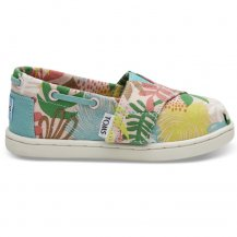 <img class='new_mark_img1' src='https://img.shop-pro.jp/img/new/icons14.gif' style='border:none;display:inline;margin:0px;padding:0px;width:auto;' />TOMS【トムス】PINK TROPICAL PALMS CANVAS TINY BIMINIS