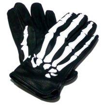 VANSON 【バンソン】 ROPX スケルトン グローブ(ブラック/ホワイト)