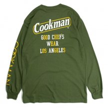 <img class='new_mark_img1' src='https://img.shop-pro.jp/img/new/icons14.gif' style='border:none;display:inline;margin:0px;padding:0px;width:auto;' />COOKMAN 【クックマン】 LONG SLEEVE T-SHIRTS (ロングスリーブTシャツ)「Tape logo」