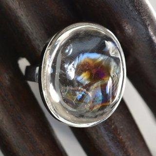 レインボー水晶リングA