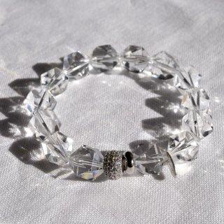 水エレメント(正二十面体)水晶ブレスレット