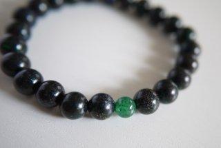 黒マトリックスオパール・ブレス(緑)