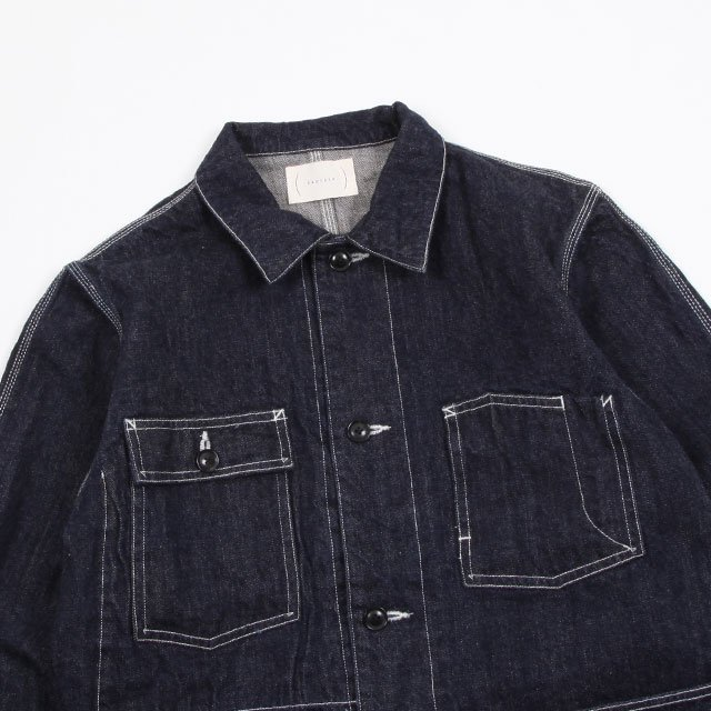 cantate Coverall Jacket #INDIGO [19AWCA0176]|Silver and