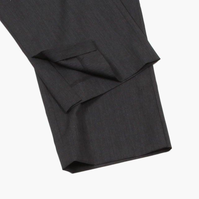 AURALEE WOOL SILK TROPICAL SLACKS #CHARCOAL BLACK ...