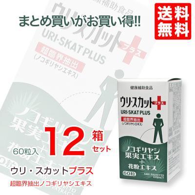 【全国送料無料】 ノコギリヤシ 果実エキス 最新ウリ・スカット◆60粒12本セット