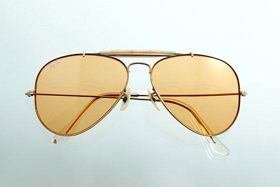 Ray-Ban アビエイター 1970年代 ボシュロム社製 60mm ゴールド×アンバー sun-r02