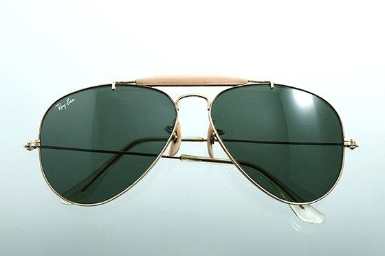 Ray-Ban アビエイター 1970年代 ボシュロム社製 60mm ゴールド×グリーン sun-r05