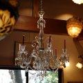 アンティーク 1860年代 バカラ クリスタルガラス 6灯シャンデリア 蝋燭 lu-9