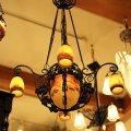 デュゲ 5灯シャンデリア 野葡萄 アンティーク アールデコ期 1920年代 lu-85