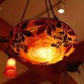 ドーム兄弟 ルイ・マジョレル 野葡萄カメオ1灯シャンデリア アールヌーヴォー Daum Nancy lu-91