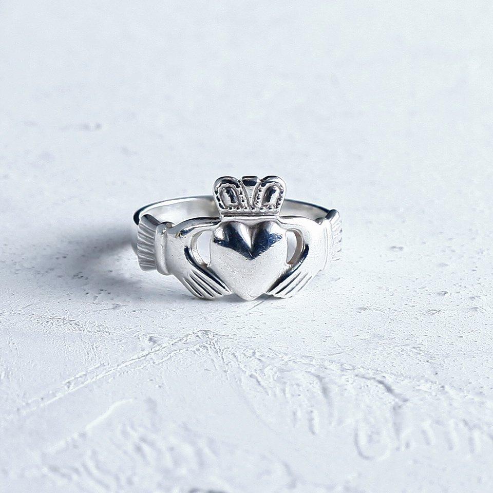 クラダリング 指輪 純銀 フォーチュン・オブ・リング 1950年代 アイルランドのお守り アンティーク r-26 - アンティーク&オールディーズ オンラインストア