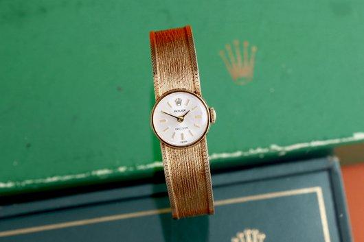 1940年 ロレックス社プレシジョン 婦人用腕時計 14金無垢 手巻き 箱付き  wl-13