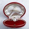 1963年製 オメガ 婦人用カクテルウォッチ ダイヤモンド&14金無垢 共箱付き wl-15