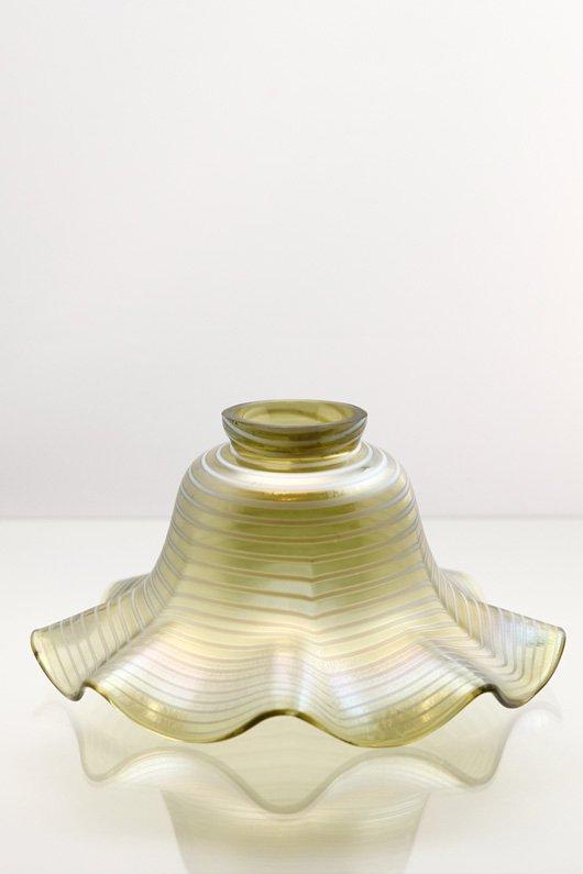 1930年頃 イリディセントガラス 電傘 ガラスシェード 複数在庫あり ls46