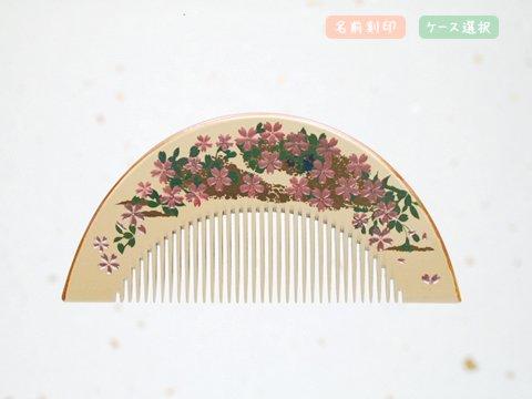 桜蒔絵 半月(大) 霞(白)